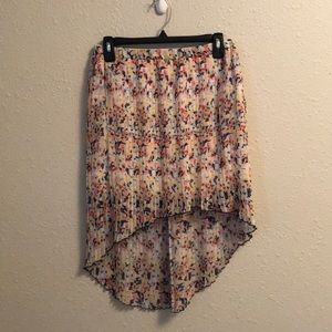 High Low spring floral skirt sz S